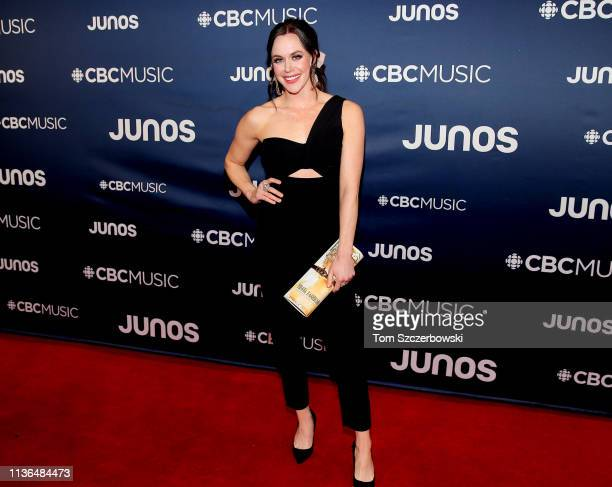 Tessa Virtue attends the 2019 Juno Awards Arrivals at Budweiser Gardens on March 17 2019 in London Canada