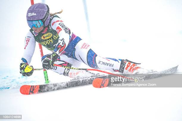 Tessa Worley of France competes during the Audi FIS Alpine Ski World Cup Women's Giant Slalom on October 27 2018 in Soelden Austria