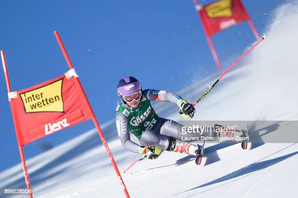 Tessa Worley of France competes during the Audi FIS Alpine Ski World Cup Women's Giant Slalom on December 29, 2017 in Lienz, Austria.