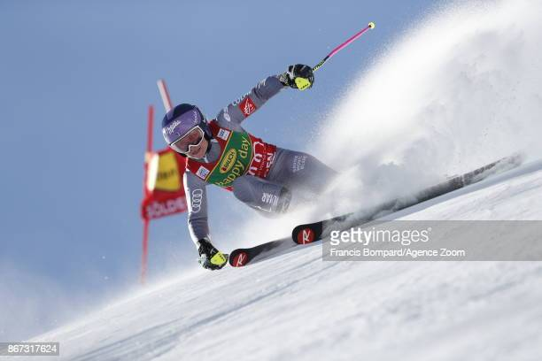 Tessa Worley of France in action during the Audi FIS Alpine Ski World Cup Women's Giant Slalom on October 28 2017 in Soelden Austria