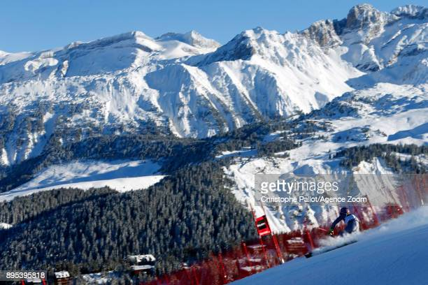 Tessa Worley of France in action during the Audi FIS Alpine Ski World Cup Women's Giant Slalom on December 19 2017 in Courchevel France