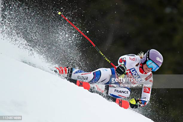 Tessa Worley of France in action during the FIS World Ski Championships Women's Giant Slalom on February 14 2019 in Are Sweden