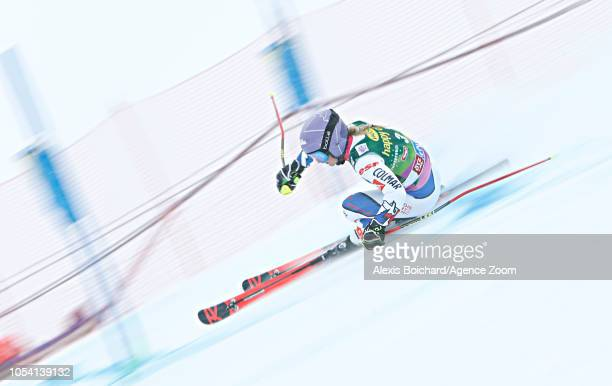 Tessa Worley of France takes 1st place during the Audi FIS Alpine Ski World Cup Women's Giant Slalom on October 27 2018 in Soelden Austria