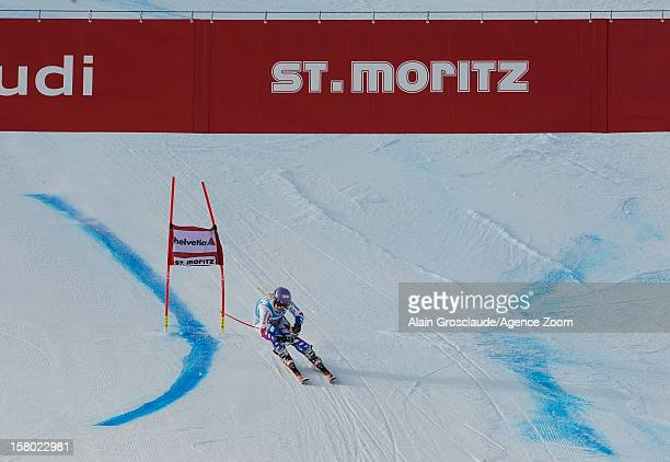 Tessa Worley of France takes 2nd place during the Audi FIS Alpine Ski World Cup Women's Giant Slalom on December 09 2012 in St Moritz Switzerland