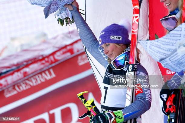 Tessa Worley of France takes 2nd place during the Audi FIS Alpine Ski World Cup Women's Giant Slalom on December 19 2017 in Courchevel France