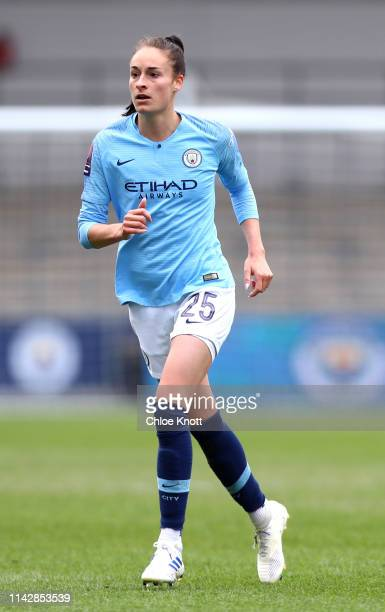 Tessa Wullaert of Manchester City during the Women's FA Cup Semi Final match between Manchester City Women and Chelsea Ladies at The Academy Stadium...