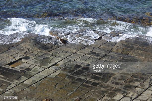 Tessellated Pavement in Tasman Peninsula Tasmania Australia.