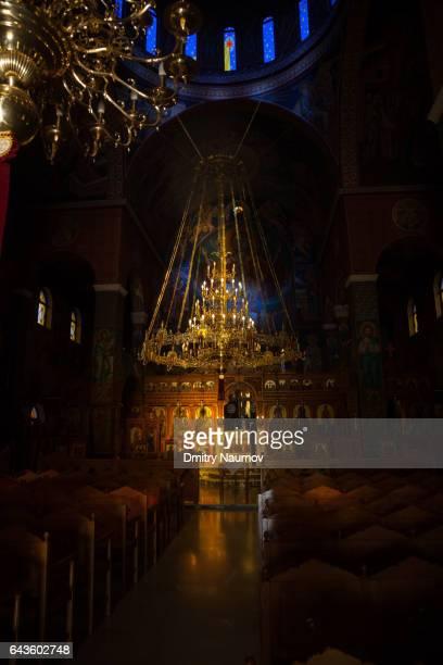 Tesseris Martyres Church Interior, Rethymno, island of Crete, Greece, Mediterranean