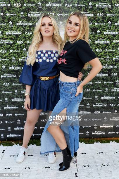 Tessie Hartmann and Tallia Storm attend Barclaycard presents British Summer Time at Hyde Park on July 2 2017 in London England