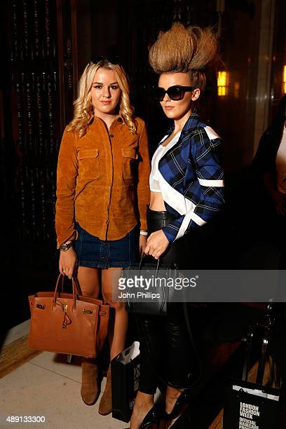 Tessie Hartmann and Tallia Storm attend the Maya show during London Fashion Week SS16 on September 19 2015 in London England