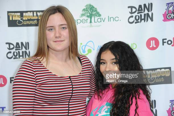 Tesslynne Geiger and Dani Cohn attend Danielle Cohn's Music Video Release Party For Lights Camera Action held at Starwest Studios on January 19 2019...
