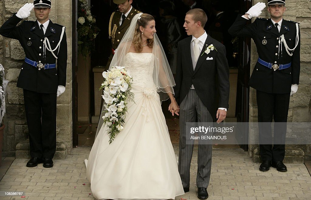 Wedding of Prince Louis of Luxembourg and Tessy Anthony at the Gilsdorf Church in Luxembourg on September 29, 2006. : Nachrichtenfoto