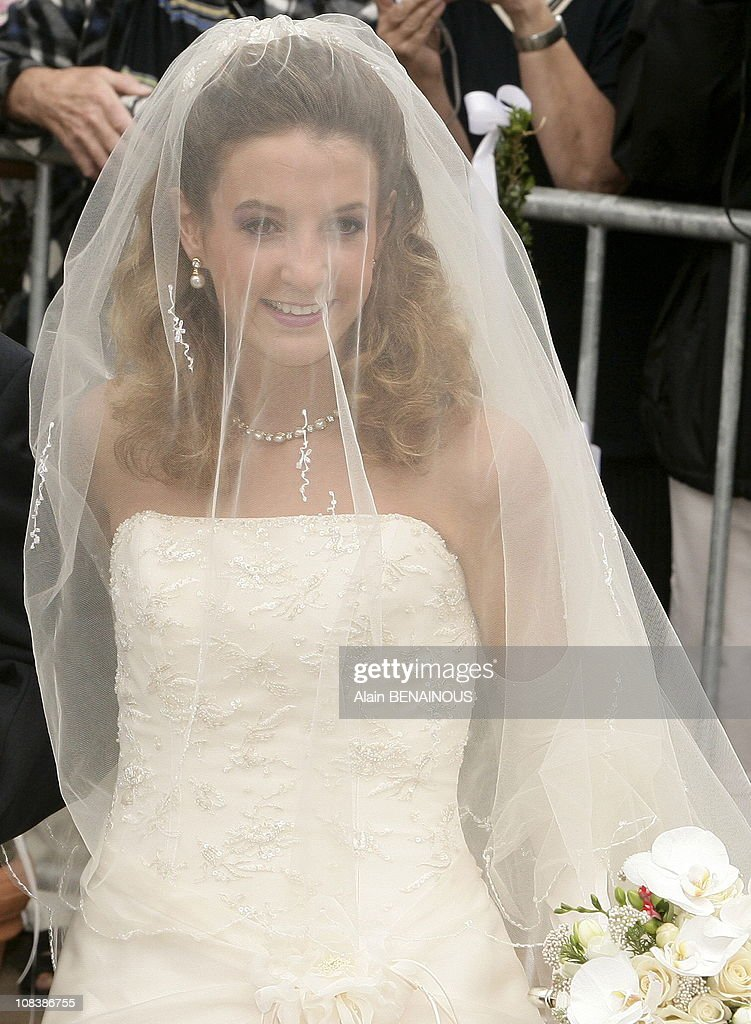 Wedding of Prince Louis of Luxembourg and Tessy Anthony: arrivals at the Gilsdorf Church on September 29, 2006. : News Photo