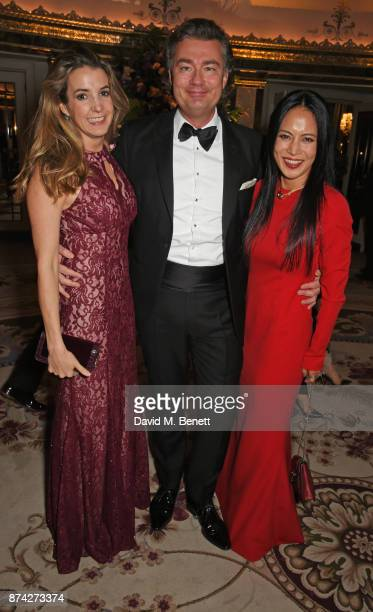 Tessy Antony Laurent Feniou and Vicky Lee attend The Cartier Racing Awards 2017 at The Dorchester on November 14 2017 in London England