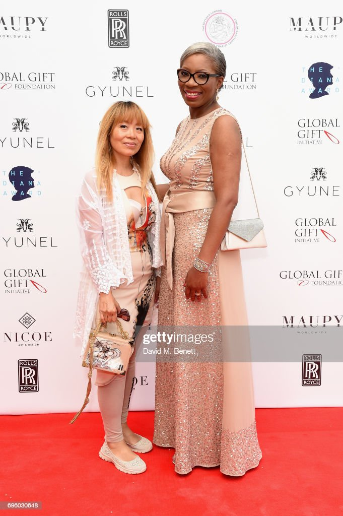Tessy Ojo (R) and Annie Newman attend the Global Gift Gala for The Diana Award, hosted by Earl Spencer at Althorp House on June 14, 2017 in Northampton, England.