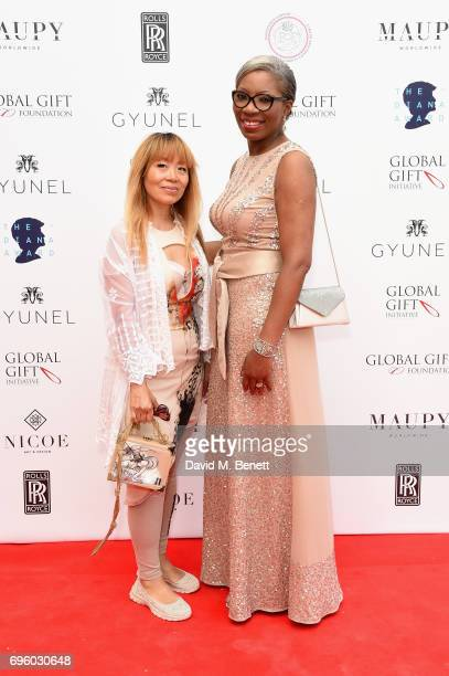 Tessy Ojo and Annie Newman attend the Global Gift Gala for The Diana Award hosted by Earl Spencer at Althorp House on June 14 2017 in Northampton...