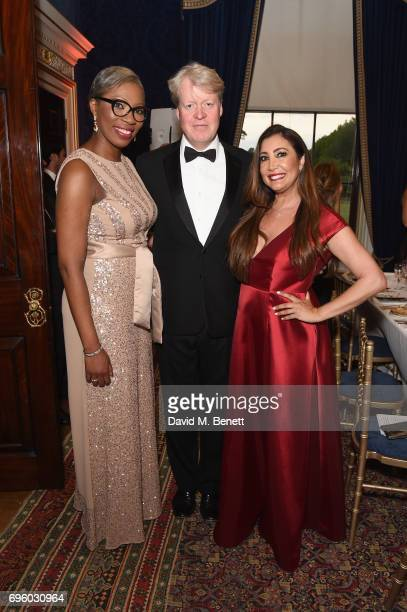 Tessy Ojo Earl Spencer and Maria Bravo attends the Global Gift Gala for The Diana Award hosted by Earl Spencer at Althorp House on June 14 2017 in...