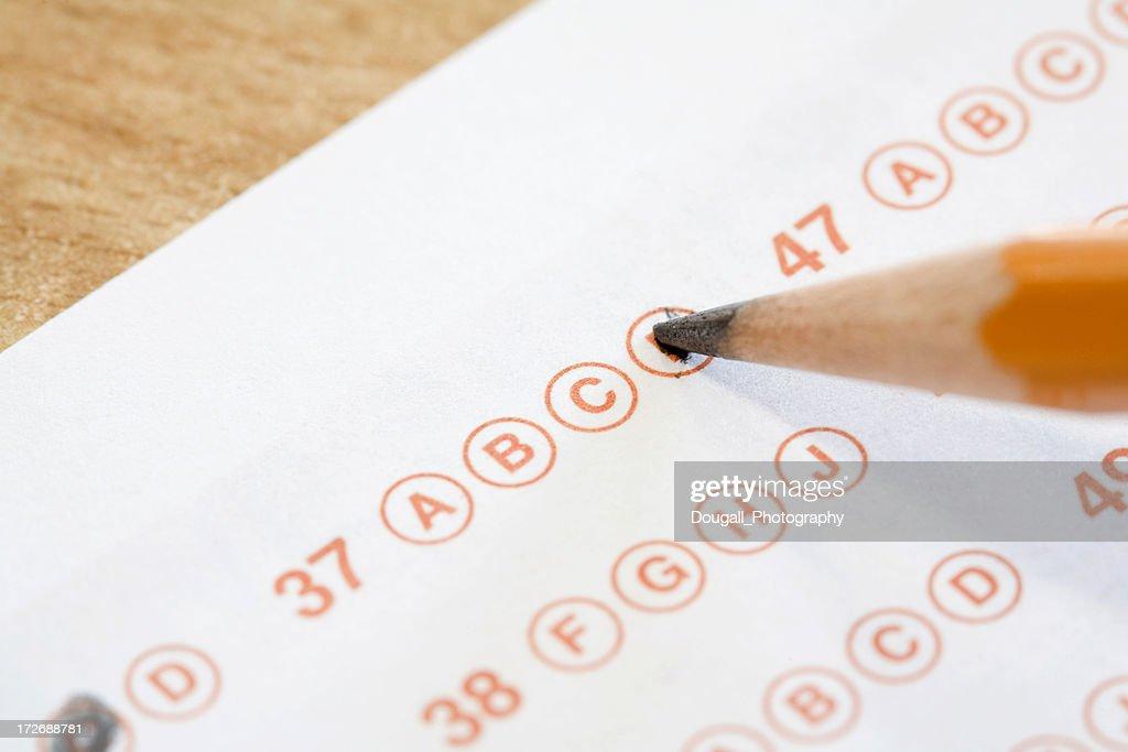 Test Answer Sheet : Stock Photo
