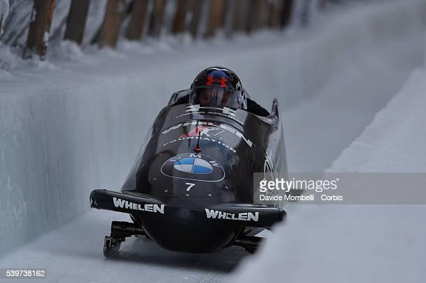 Test Bob category four men BMW IBSF World Cup Bob 2015/2016 St Moritz Swiss
