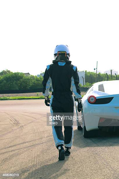 test driving ferrari 458 italia - race car driver stock pictures, royalty-free photos & images