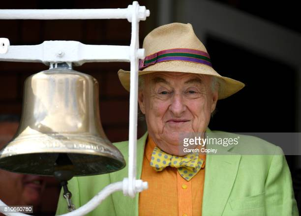 Test Match Special commentator Henry Blofeld rings the five minute bell ahead of day three of the 1st Investec Test match between England and South...