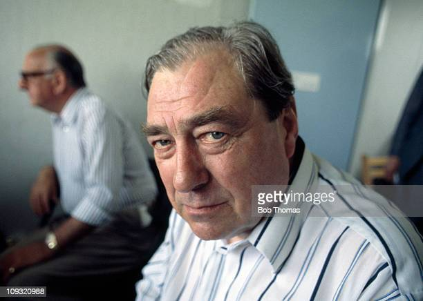 BBC Test Match Special cricket commentator John Arlott at Old Trafford in Manchester 8th July 1977