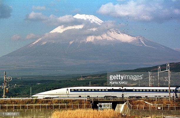 Test Of Jr Train In Front Of Mount Fuji In Japan On December 21 1996 Test of Jr Train In Front Of Mount Fuji