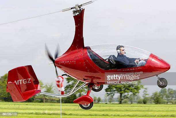 A test pilot brings the Personal Air and Land Vehicle PALV into land follwiong a test flight on the outskirts of Amersfoort on April 27 2009...