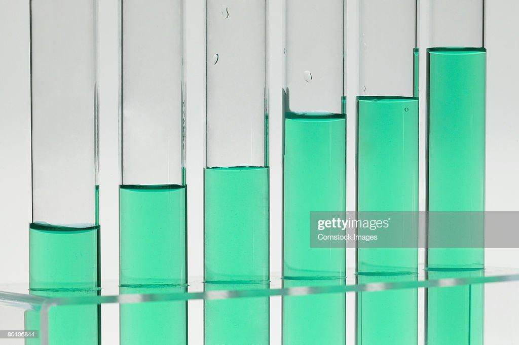 Test tubes with liquid : Stock Photo