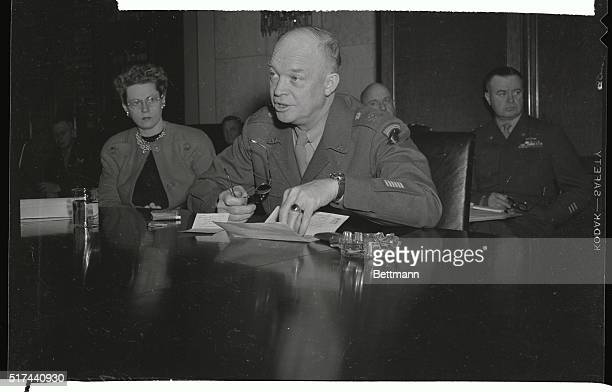 Testifying before the Senate Military Affairs subcommittee on demobilization General of the Army Dwight D Eisenhower Chief of Staff ordered all Army...