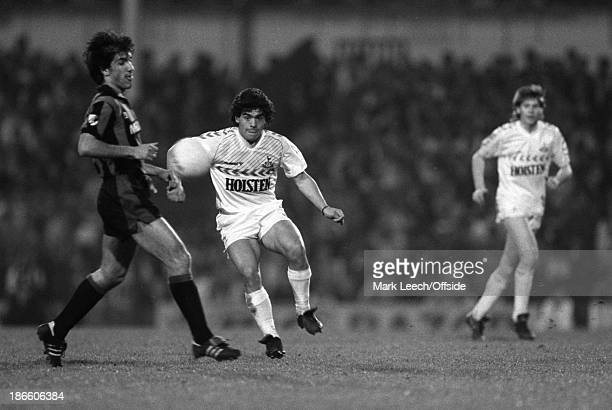 Testimonial Match Tottenham Hostspur v Internazionale Diego Maradona playing for Tottenham in a benefit match for Osvaldo Ardiles