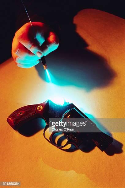 Testing for Fingerprints with a Laser