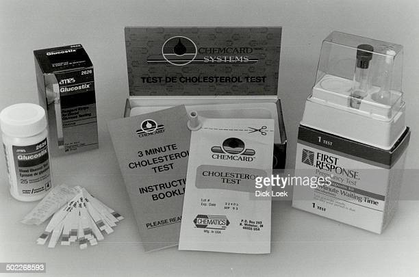 Testing made easy Pregnancy or cholesterol test kits are only two of many now on drugstore shelves
