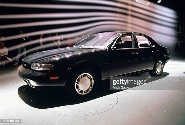 testing new car in wind tunnel - wind tunnel testing stock photos and pictures