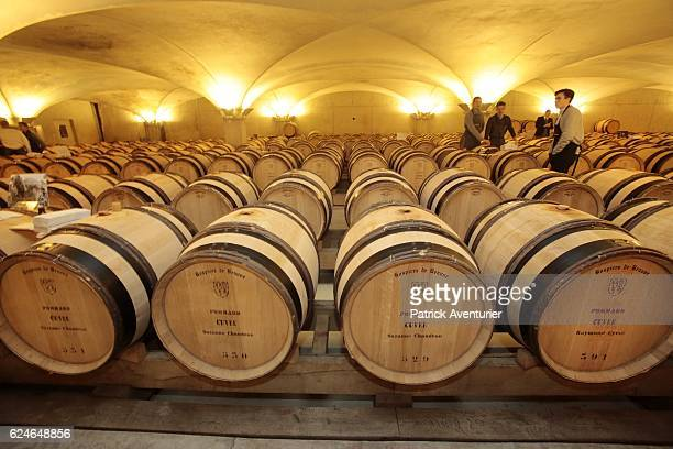 Testing of the 594 wine casks before the 156th Charity Wine Auction Hospices de Beaune on November 20 2016 in Beaune FranceThe Hospices de Beaune...