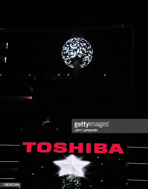 Testing of the Ball Drop the night before New Year's Eve 2012 in Times Square on December 30 2011 in New York City