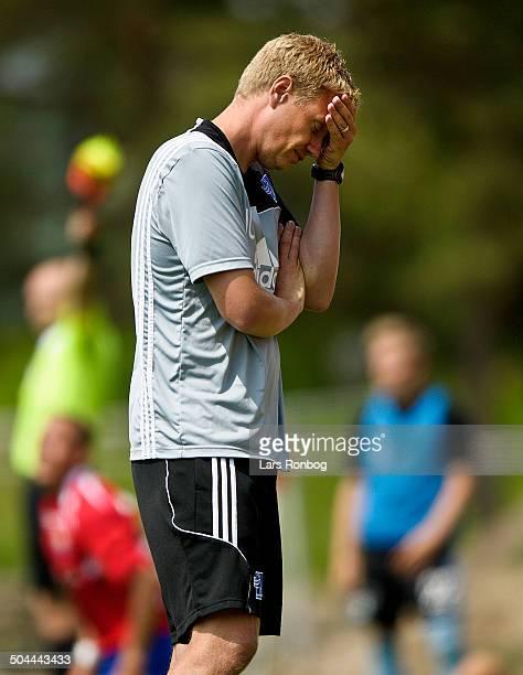Testmatch FC Vestsjælland vs Lyngby Teamcoach Johan Lange Lyngby © Lars Rønbøg FrontzoneSportdk