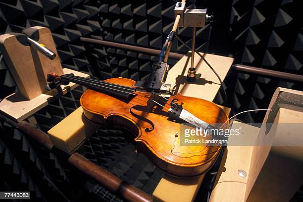 Tests on vibrations and resonance are carried out in the anechoic room at the International Violin Making School of Cremona The historical city of...
