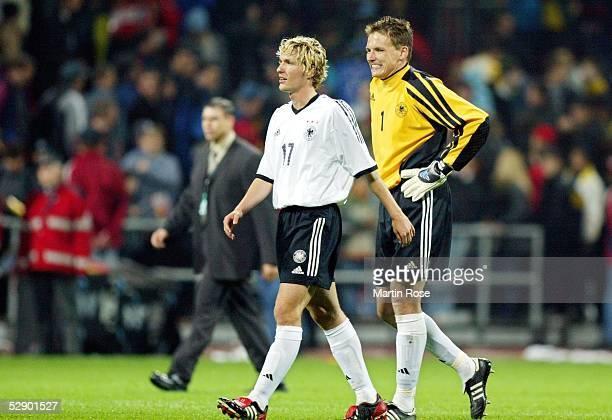 Testspiel 2003, Bremen; Deutschland - Serbien-Montenegro 1:0; Benjamin LAUTH, Torwart Frank ROST/GER