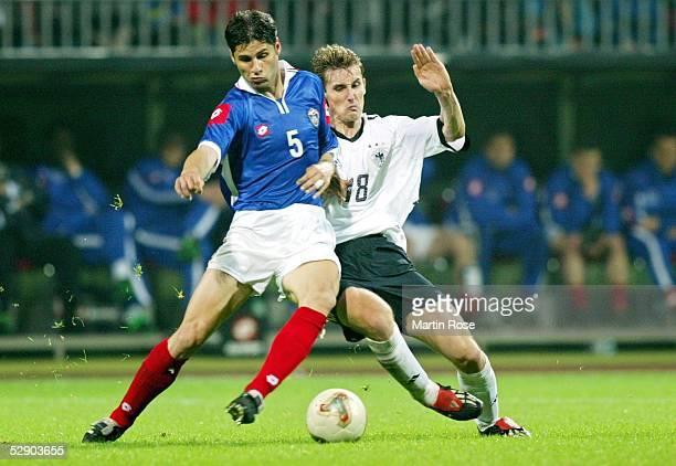 Testspiel 2003, Bremen; Deutschland - Serbien-Montenegro 1:0; Dejan STEFANOVIC/YUG, Miroslav KLOSE/GER