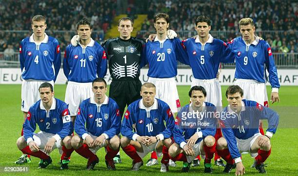 Testspiel 2003, Bremen; Deutschland - Serbien-Montenegro 1:0; hintere Reihe v.l.n.r.: Nemanja VIDIC, Nenad JESTROVIC, Torwart Dragoslav JEVRIC,...