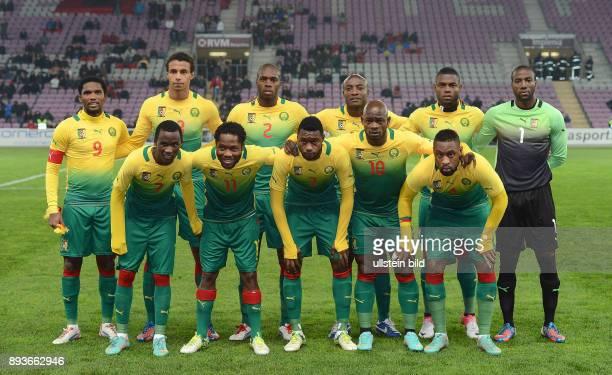 FUSSBALL INTERNATIONAL Testspiel Albanien Kamerun Mannschaftsbild Kamerun Samuel Eto o Joel Matip Allan Romeo Nyom Achille Webo Henri Bedimo Torwart...