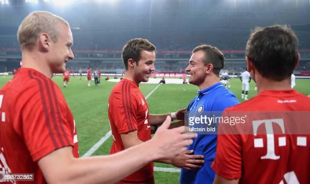 FUSSBALL 1 BUNDESLIGA SAISON 2015/2016 Testspiel Audi Football Summit Shanghai FC Bayern Muenchen 10 Inter Mailand ExFC Bayern Spieler Xherdan...
