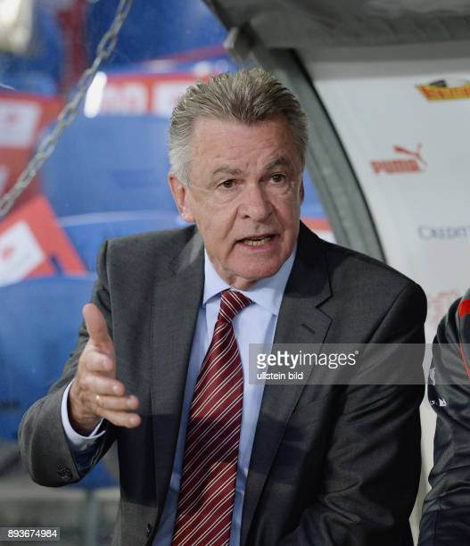 FUSSBALL INTERNATIONAL Testspiel Schweiz Brasilien Trainer Ottmar HITZFELD