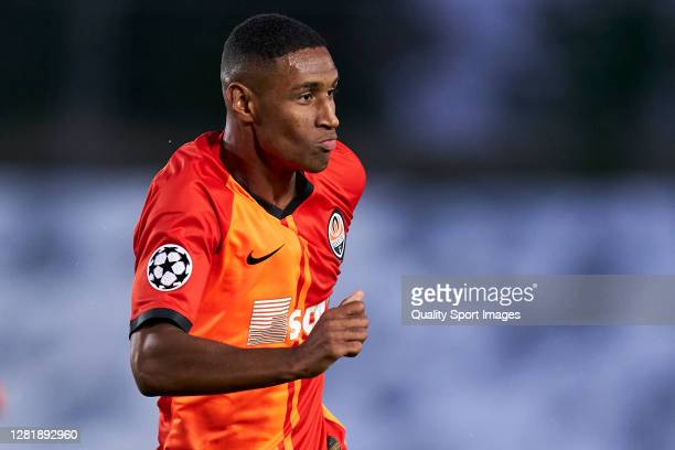 Tete of Shakhtar Donetsk reacts during the UEFA Champions League Group B stage match between Real Madrid and Shakhtar Donetsk at Estadio Alfredo Di...