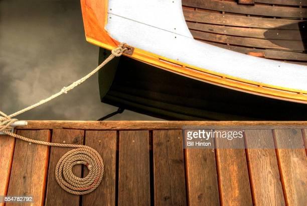 tethered rowboat - vertäut stock-fotos und bilder