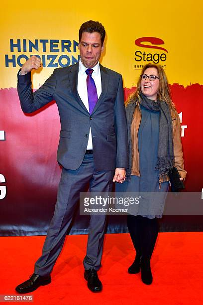Tetje Mierendorf and Cornelia Mierendorf attends the red carpet at the Hinterm Horizont Musical premiere at Stage Operretenhaus on November 10 2016...