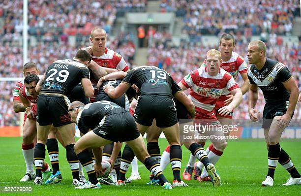 Tetleys Challenge Rugby League Final Wembley Stadium UK Hull FC v Wigan Warriers