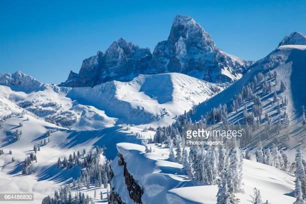 グランド targhee から見たティトン山脈 - ティトン山脈 ストックフォトと画像