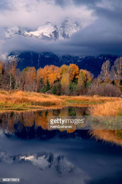 teton reflection - grand teton national park stock pictures, royalty-free photos & images